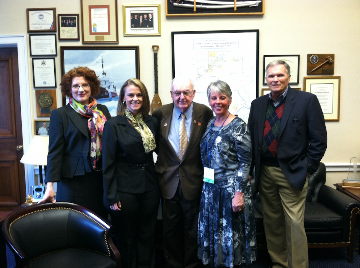 Dusty Donaldson with other advocates and former Congressman, Howard Coble
