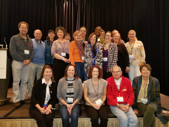 Lung Cancer Survivors at LCRF Meeting Feb 2018
