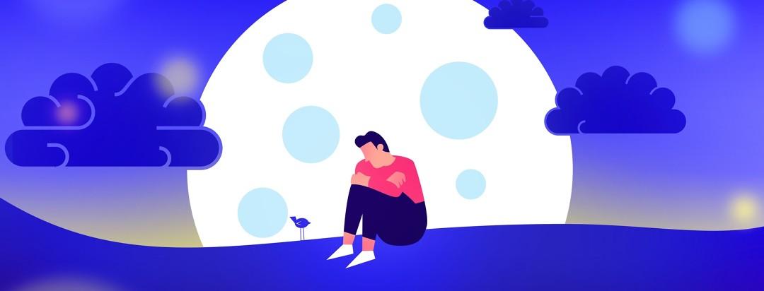 A man feeling sad and alone