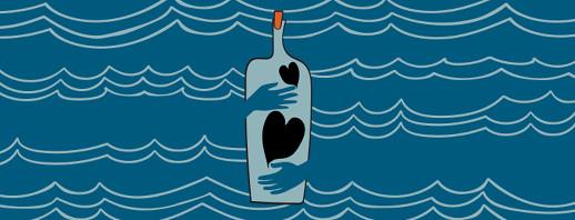 An image of a bottle, bottling up emotions.