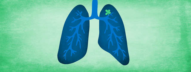 Lungs with a four-leaf clover inside