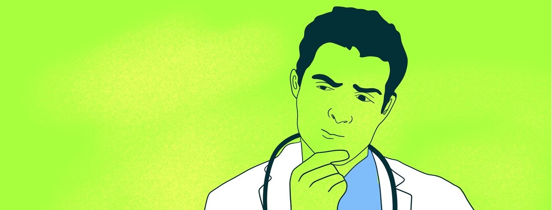 A doctor thinks hard but is stumped